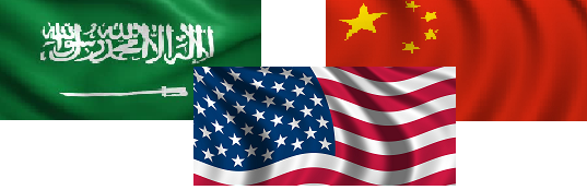 us china saudi flags